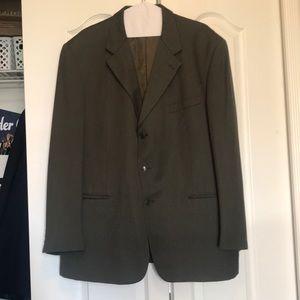 JONES NEW YORK Men's Suit Set Dark Green